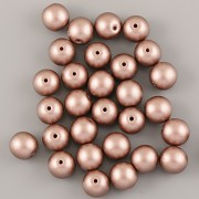 Perličky - 8mm - 30ks - METAL hnědé