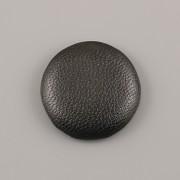 Kabošon kožený - ČERNÝ - 25mm