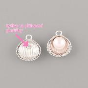 Přívěsek MUŠLIČKA na perličku - Ag925 růžově zlacený