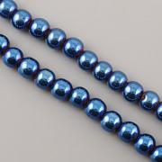 Korálky z minerálů - HEMATIT modrý - 6mm
