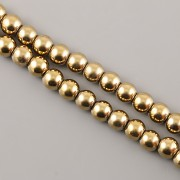 Korálky z minerálů - HEMATIT zlatý - 6mm