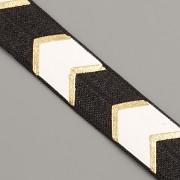 PRUŽENKA - Černá se šipkami - 15mm