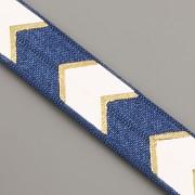 PRUŽENKA - Modrá se šipkami - 15mm