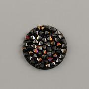 Crystal Rocks Swarovski Elements - Jet + Astral Pink - 15mm