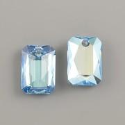 Swarovski Elements přívěsky 6435 Emerald Cut – Aquamarine Shimmer - 16mm