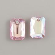 Swarovski Elements přívěsky 6435 Emerald Cut – Light Rose Shimmer - 11mm