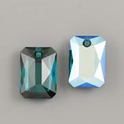 Swarovski Elements přívěsky 6435 Emerald Cut – Emerald Shimmer - 16mm