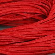 Kožený řemínek plochý 2,5mm - 90cm - červený