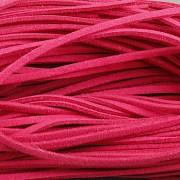 Kožený řemínek plochý 2,5mm - 90cm - sytě růžový