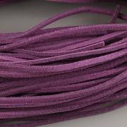 Kožený řemínek plochý 2,5mm - 90cm - fialový