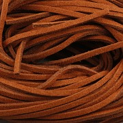 Kožený řemínek plochý 2,5mm - 90cm - hnědý