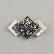 Brož pro ČTVEREC Crystal Rocks Swarovski 20mm