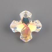 Swarovski Elements přívěsky 6867 - Řecký kříž - Crystal AB - 28mm