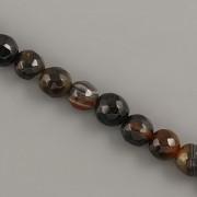 Korálky z minerálů - ACHÁT hnědý dobarvený fasetovaný - 6mm