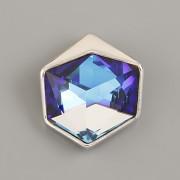 Přívěsek Tilted Dice Swarovski  - Bermuda Blue - rhodium