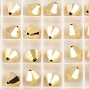 Swarovski Elements korálky XILLION 5328 – Sluníčka – Crystal AURUM 2X - 8mm