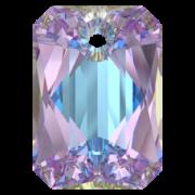 Swarovski Elements přívěsky 6435 Emerald Cut – Vitrail Light - 16mm