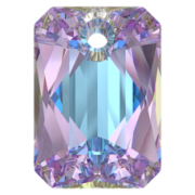 Swarovski Elements přívěsky 6435 Emerald Cut – Vitrail Light - 11mm