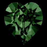 Srdíčka Swarovski Elements 4884 - Emerald F - 8mm