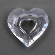 Swarovski Elements přívěsky 6262 – Miss You Heart – Crystal 17mm