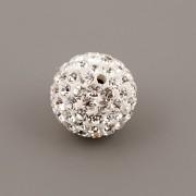 Korálek s kamínky BASIC - Crystal - 12mm