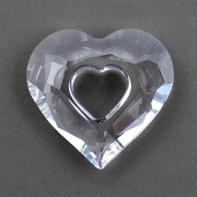 Swarovski Elements přívěsky 6262 – Miss You Heart – Crystal 26mm