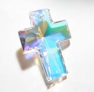 Swarovski Elements přívěsky 6864 - Cross - Crystal AB - 40x30