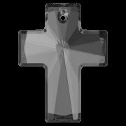 Swarovski Elements přívěsky 6864 - Cross - Silver Night - 40x30