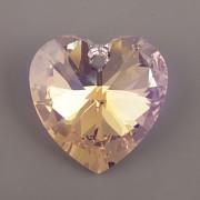 Swarovski Elements přívěsky 6228 – Srdce – Rosaline AB – 10mm