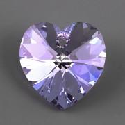 Swarovski Elements přívěsky 6228 – Srdce – Provence Lavander AB – 10mm
