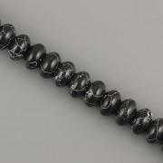 Korálky z minerálů - Donut howlite černý - 8mm