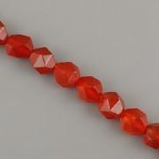 Korálky z minerálů - Broušený jaspis červený - 8mm