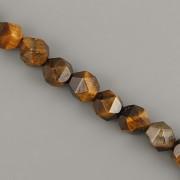 Korálky z minerálů - Broušené tygří oko - 8mm