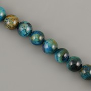 Korálky z minerálů - Blue Zirkon tygří oko - 6mm