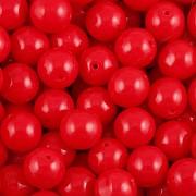 KORÁLKY KULIČKY - Červená 30ks - 8mm