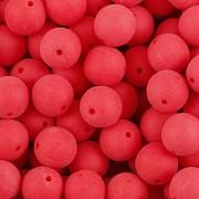 KORÁLKY KULIČKY - Červená MAT 30ks - 8mm
