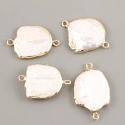 Perleťový mezičlánek - ve zlaté - 2cm