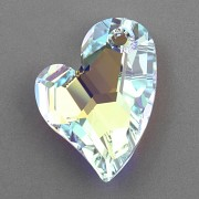 Swarovski Elements přívěsky 6261 – Devoted 2 U Heart – Crystal AB 17mm