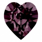 Srdíčka Swarovski Elements 4884 - Amethyst F - 8mm