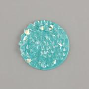 Crystal Rocks Swarovski Elements - Light Turquoise AB - 15mm