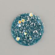 Crystal Rocks Swarovski Elements - Royal Green AB - 15mm