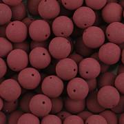 KORÁLKY KULIČKY - Tmavě vínové MAT 30ks - 8mm