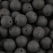 KORÁLKY KULIČKY - Černá MAT 50ks - 6mm