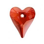 Swarovski Elements přívěsky 6240 – Srdce divoké – Red Magma – 17mm
