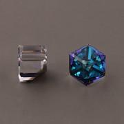 Kostičky Swarovski Elements 4841 – nalepovací seříznuté – Bermuda Blue – 8mm