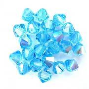 Swarovski Elements korálky XILION 5328 – Sluníčka – Aquamarine AB – 3mm
