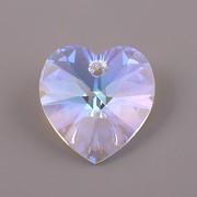 Swarovski Elements přívěsky 6228 – Srdce – Crystal Blue AB –18mm