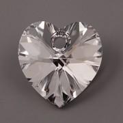 Swarovski Elements přívěsky 6228 – Srdce – Crystal CAL – 10mm