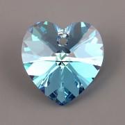 Swarovski Elements přívěsky 6228 – Srdce – Aquamarine AB – 14mm