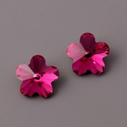 Flower Fancy Swarovski Elements 4744 – Fuchsia Foiled – 10mm